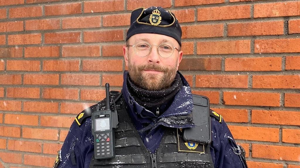 Magnus Lovenlund, områdespolis i Boliden