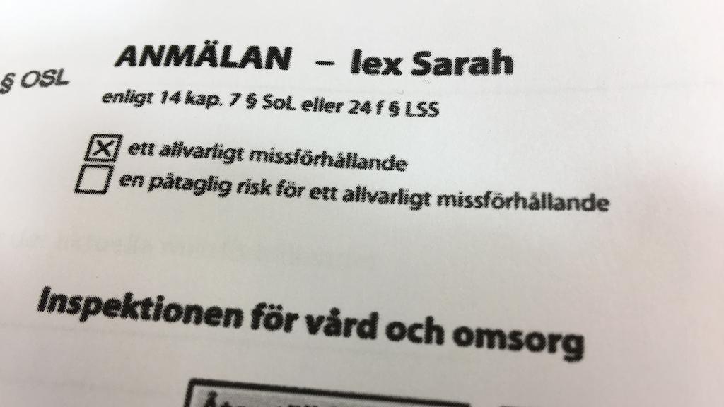 Anmälan enligt lex sarah