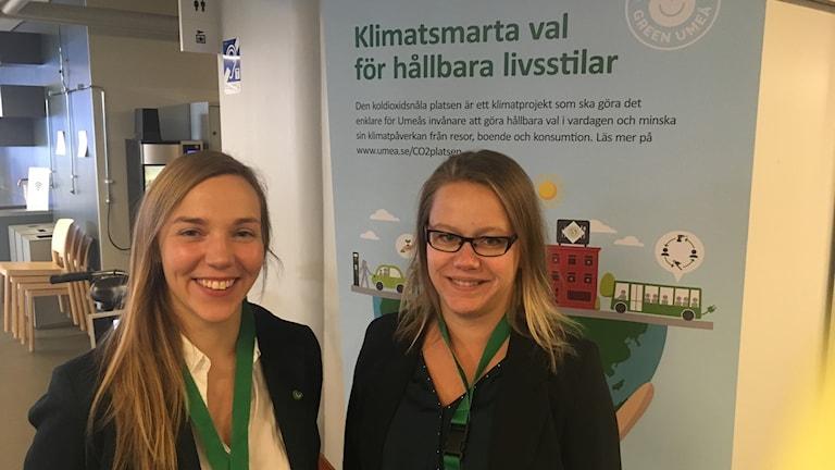 Katarina Radnoff, miljöstrateg och Anna Gemsell, projektledare för konferensen.