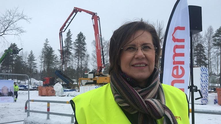 Anna-Karin Eriksson, regionschef Norr på Rikshem. Foto: Lillemor Strömberg/Sveriges Radio.