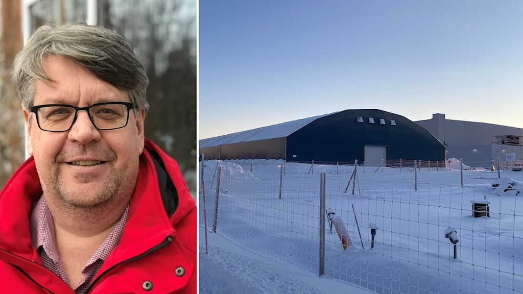 Håkan Nilsson ordf. Kommunal Västerbotten och batterifabriksbygget i Skellefteå.
