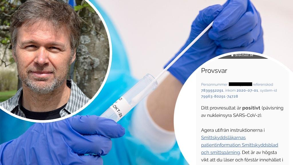 Stephan Stenmark, smittskyddsläkare. Foto: Peter Öberg/Sveriges Radio och Johan Nilsson/TT