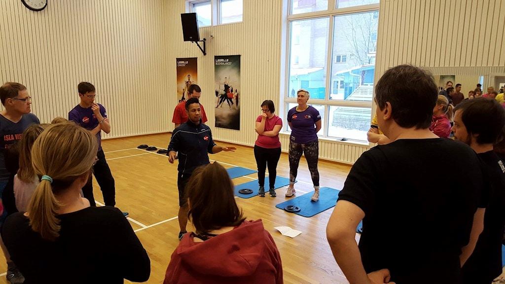 John Gröntvedt förbereder torsdagens träningspass.