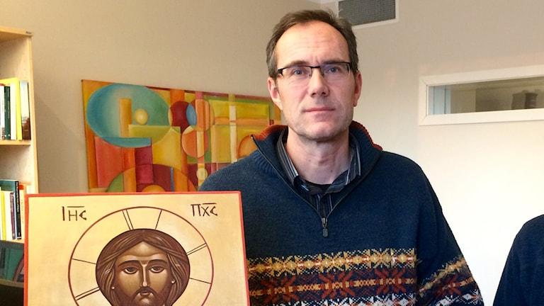 Kenneth Nordgren, kyrkoherde. Foto: Olov Antonsson, Sveriges Radio.
