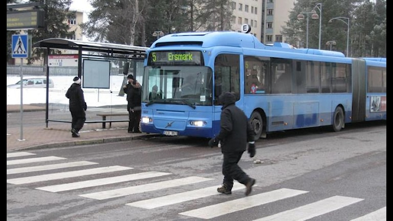 Lokalbuss i Umeå. Foto Peter Öberg.