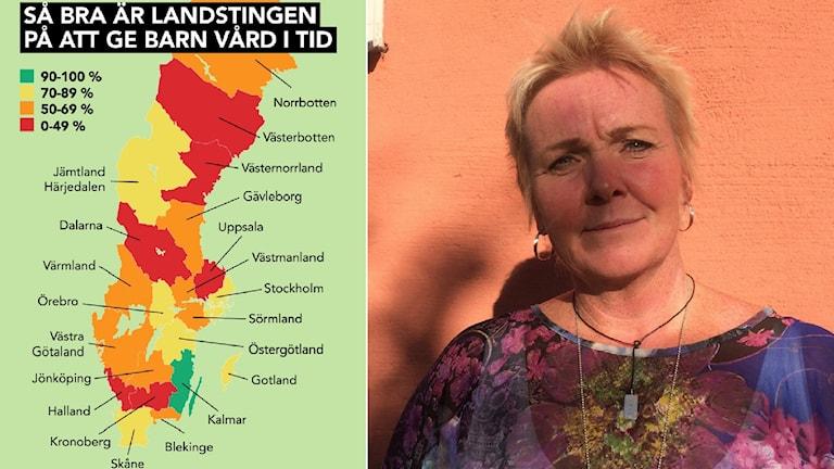 Västerbotten fortfarande sämst i landet med väntetider. Anna Wallgren, verksamhetschef BUP Västerbotten.