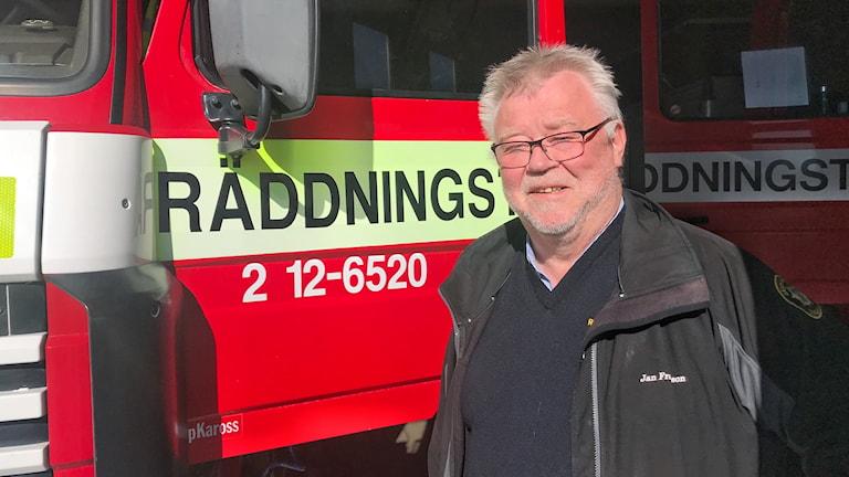 Jan Fransson räddningschef räddningstjänsten i Sorsele kommun.