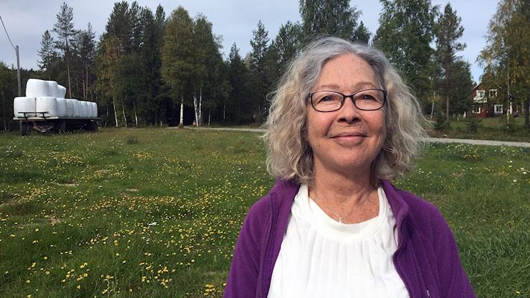 Viveka Svensson hemma på sin gård i Bjurholm.