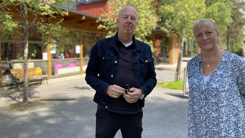 Mikael Åström, teolog och pedagog Kyrkan på campus, Eva Emadén, baha'i-samfundet Umeå