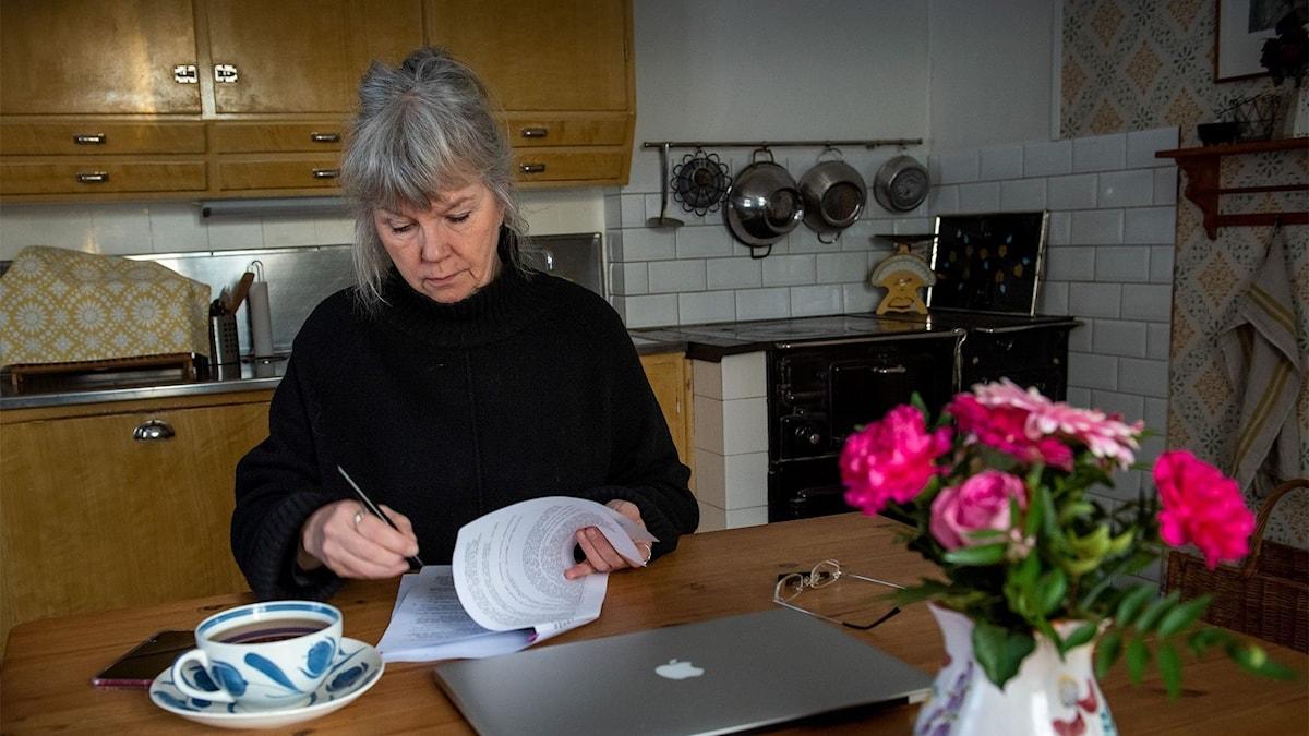 Anette Olofssons har skrivit en bok om sin vän Ali. Foto: Anders K Jonsson