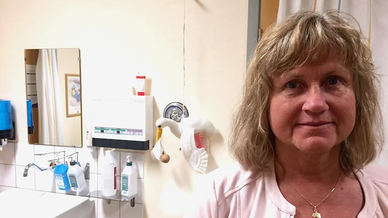 Lena Bitén Forsberg chef för Tärnaby sjukstuga foto Pia Sjögren Sveriges Radio