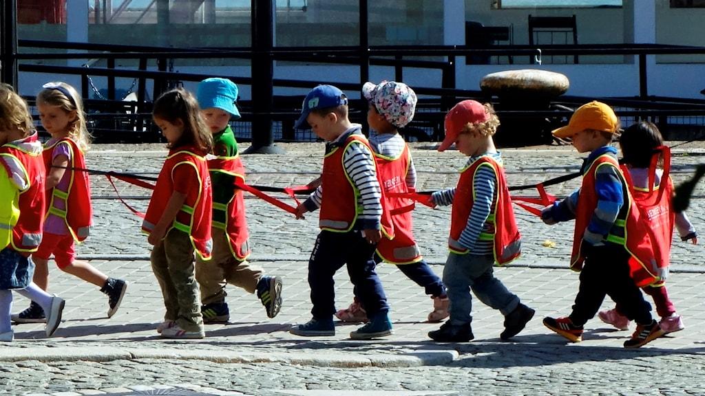 en grupp dagisbarn