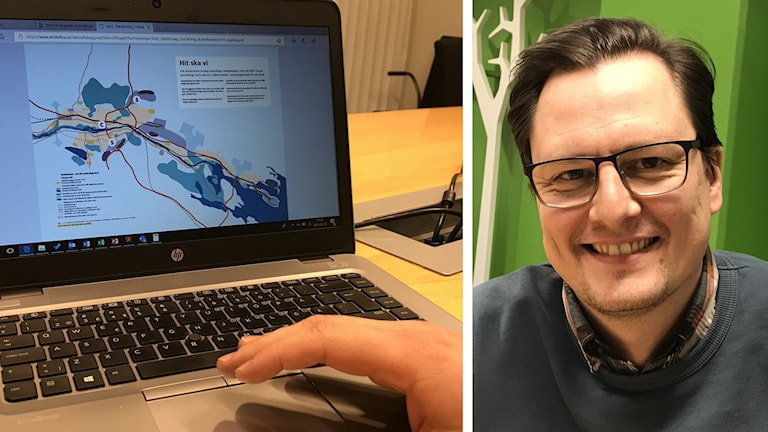 Patrik Larsen, mark- och exploateringschef i Skellefteå. Foto: Åza Meijer/Sveriges Radio