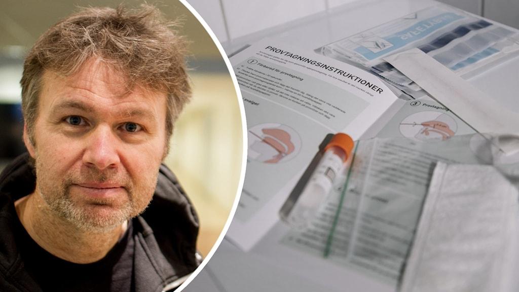Stephan Stenmark, smittskyddsläkare. Foto: Markus Åkebo/Sveriges Radio och Stina Stjernkvist/TT