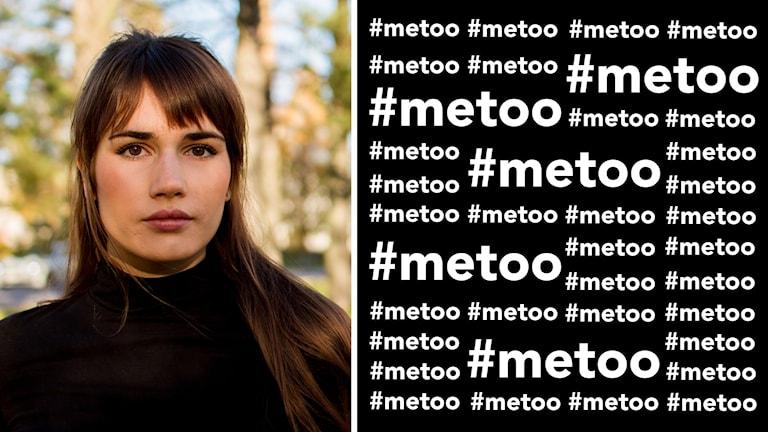 Tova Grimlund bildsplit med kollage av #metoo