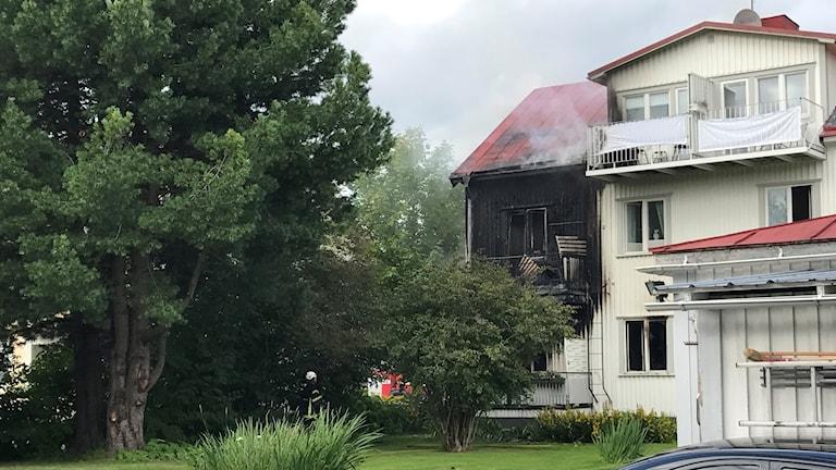Brand i villa på Haga i Umeå