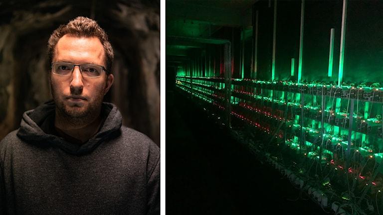 Linus Dunkers, driver företag som sysslar med kryptovalutor. Foto: Privat