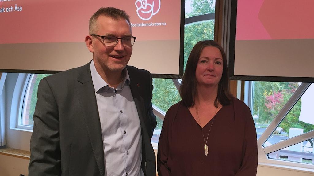 Isac From och Åsa Karlsson Socialdemokratiska riksdagsledamöter från Västerbotten