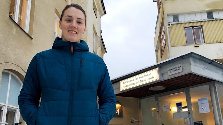 Frida Jonsson, doktorand på enheten för epidemiologi och global hälsa vid Umeå universitet.