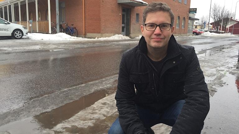 Mikael Lindholm enhetschef för Trafikverkets vägunderhåll i Norr och Västerbotten