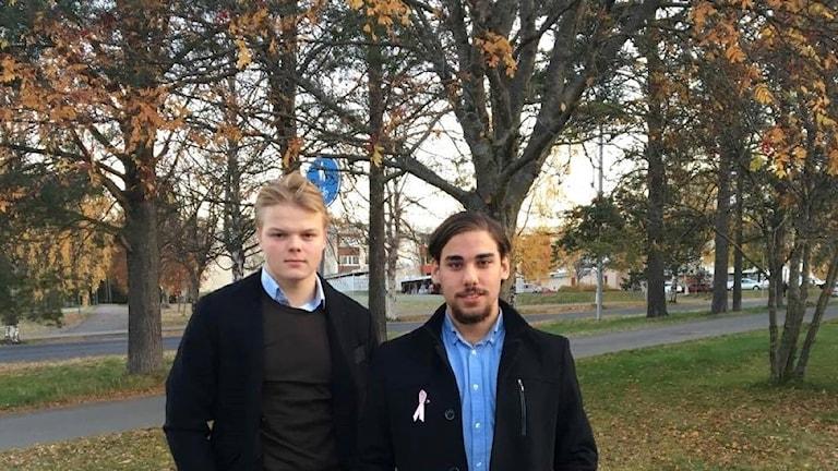 Gabriel Österberg och Zebastian Filiz.