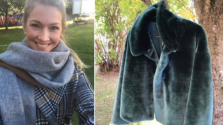 Pia Johansson, P4-stylisten, visar höstens jackor 2018.