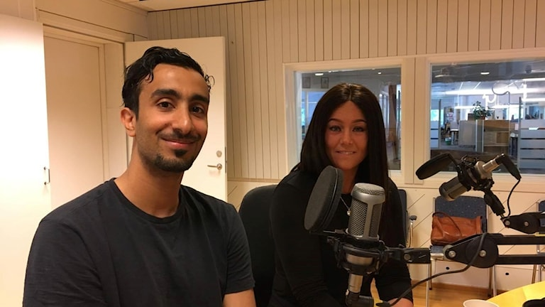 Hussein Thamir och Gabriella Alfengård.