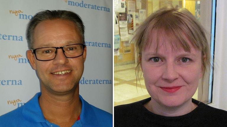 Ett kollage på två bilder på Anders Ågren och Ulrika Edman