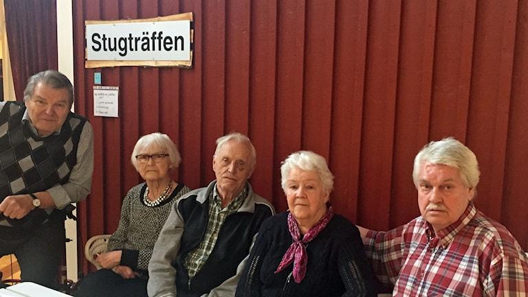 Bengt Nygren, Göta Nilsson, Paul Axelsson, Klara Sundelin och Arne Hernestål