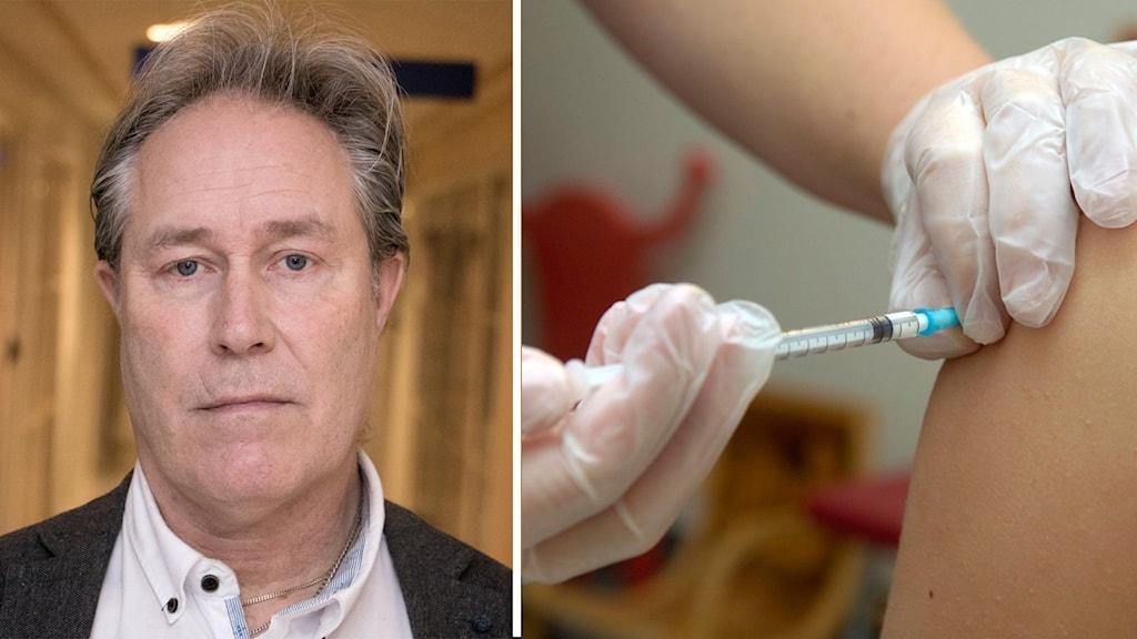 Ronny Lestander vaccinsamordnare, pressbild och spruta Tobias Röstlund/SCANPIX