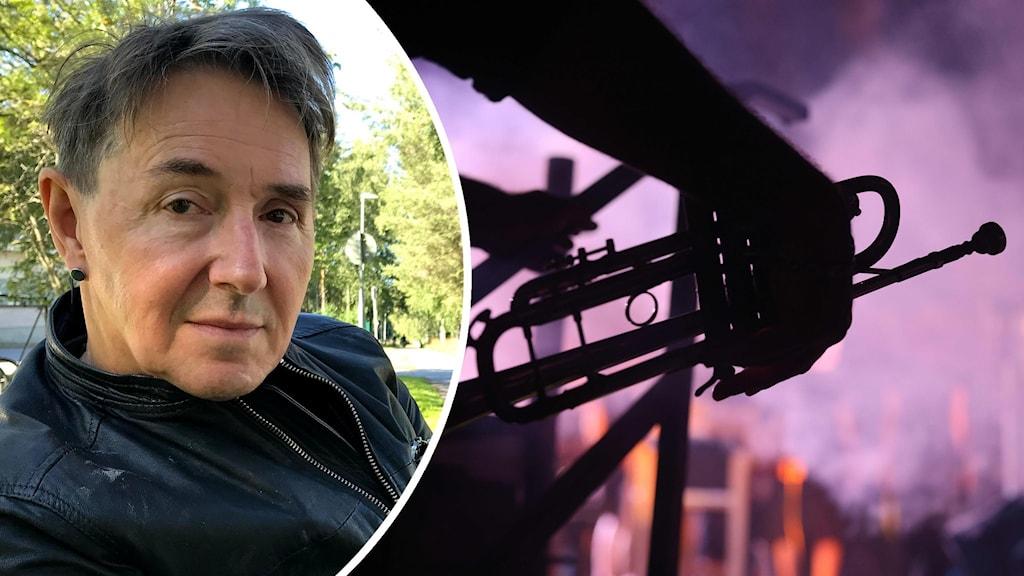 Lennart Strömbäck, konstnärlig ledare för Umeå jazzfestival. Foto: Steffen Renklint/Sveriges Radio och Emmanuel Dunand/TT