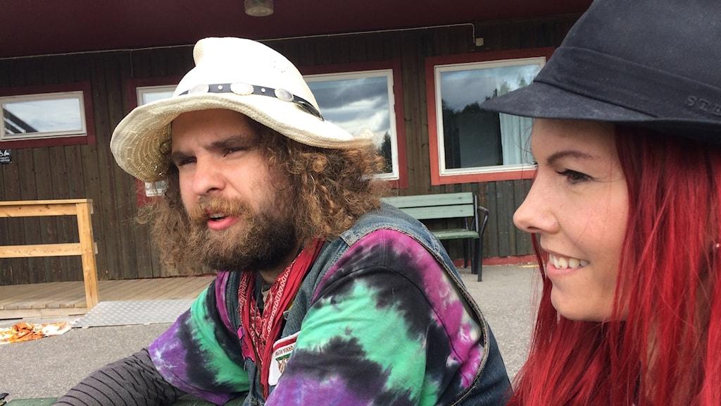 Robert Oskarsson och Annelie Selegran är med och arrangerar Lappland Woodstock