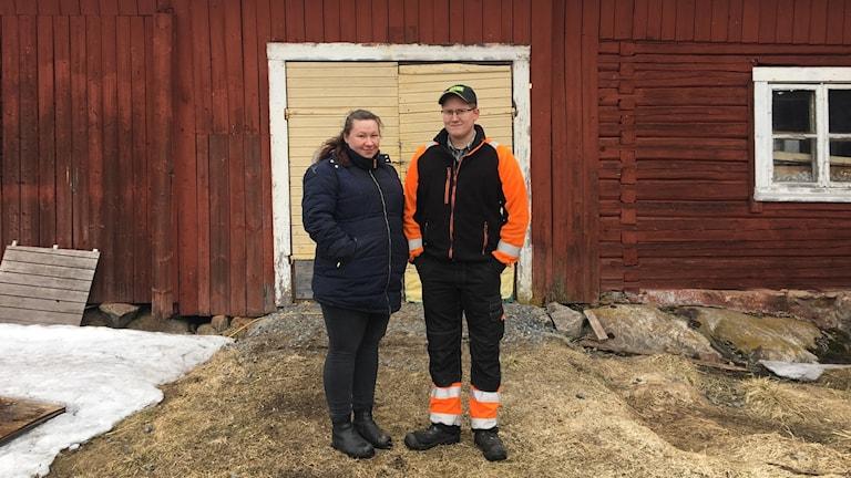 Lina Holmgren och Emil Boström i Nyvik.
