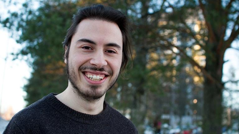Porträttbild på filmälskaren Daniel Tollefsen Altamirano