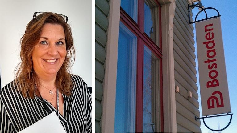 Anna Wiberg, kommunikatör på bostaden. Foto: Sveriges Radio