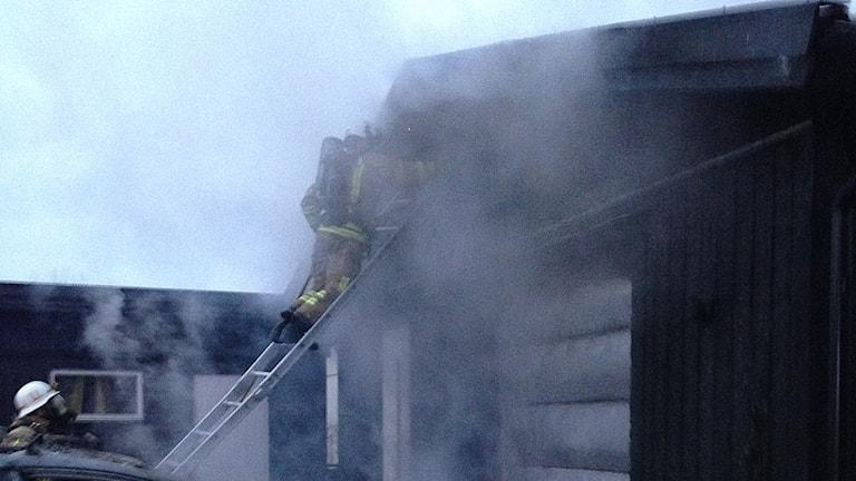Brand på Påskgatan i Skellefteå