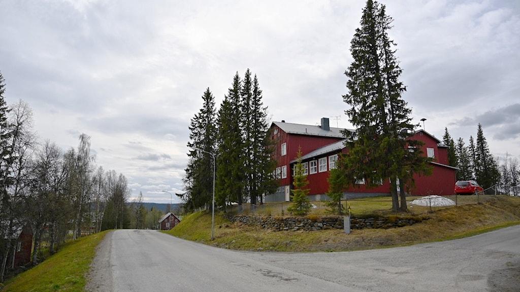 Skolbyggnad i Dikanäs, Vilhelmina kommun.