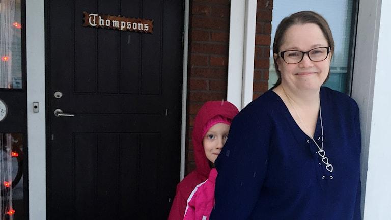 Camilla Thompson från Stackgrönnan med dottern Amelie