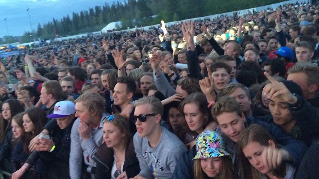 Publik under Brännbollsyran 2015. Foto: Mikael Lindberg/SR.