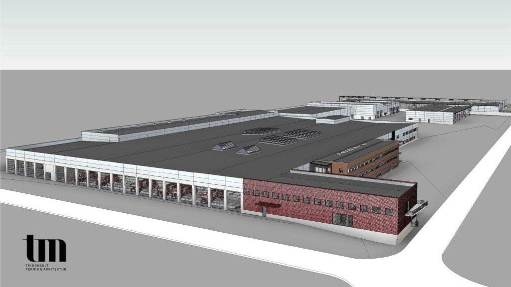 Illustration av hur kommunens nya anläggning ska se ut.