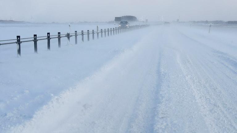 Snödrev på vägen
