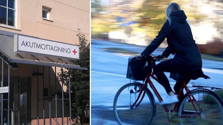 Akutmottagning cyklist