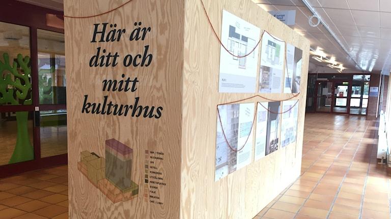 Planen på Kulturhuset i Skellefteå ställs ut i kommunhuset