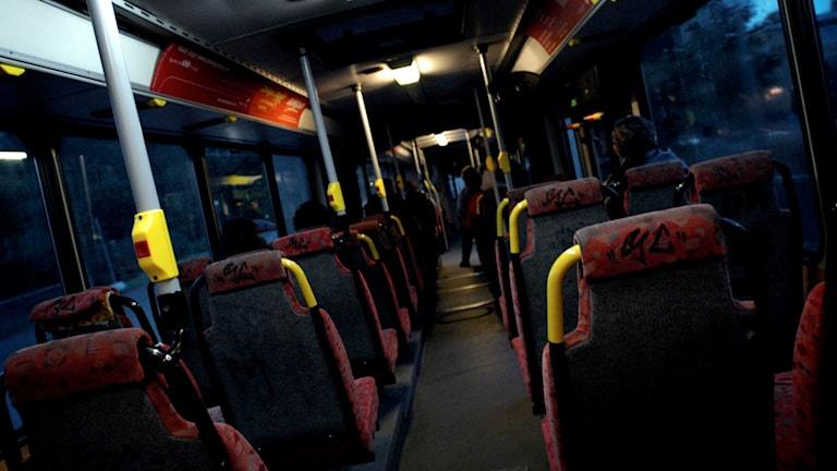 Skum belysning i en buss