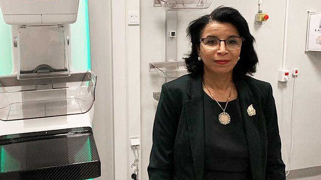 Nora Bygdebo, enhetschef på mammografienheten vid Norrlands universitetssjukhus. Foto: Filippa Armstrong/Sveriges Radio