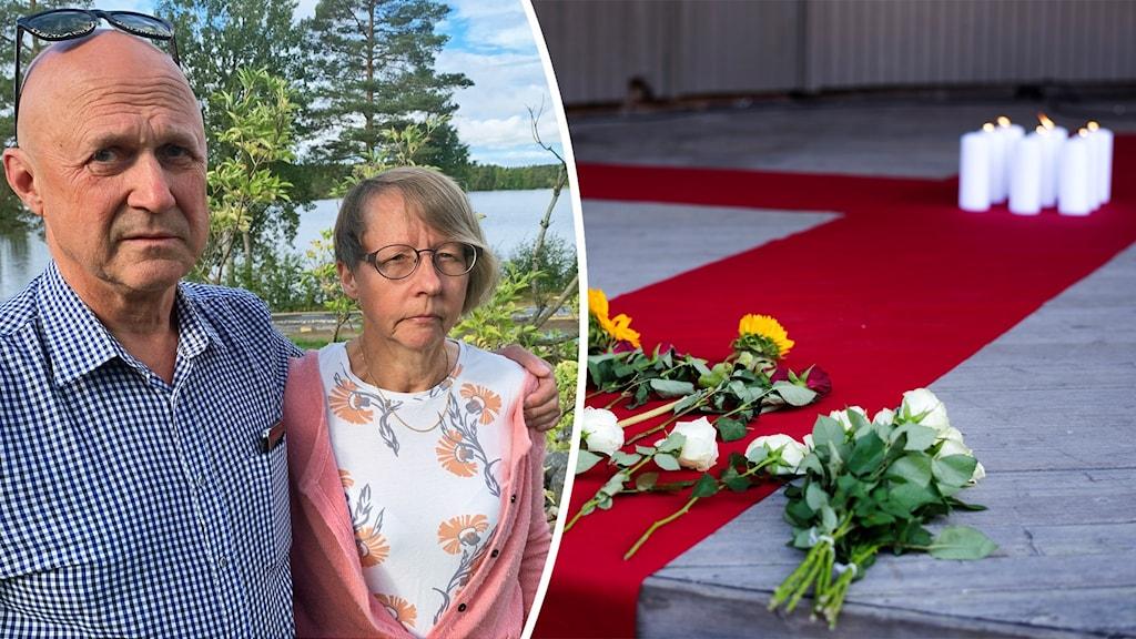 Rolf och Jaana Edling förlorade sin 20-årige son Carl i flygolyckan. Foto: Henrik Brandt/Sveriges Radio