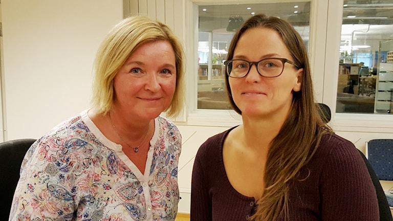 Maria Sjöström och Emma Isaksson RBU i Västerbotten