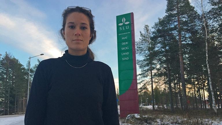 Anna Gebri-Medhin går fjärde året på jägmästarutbildningen vid SLU. Hon vittnar om en sexistisk miljö i skogsbranschen.