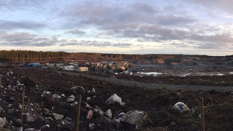 Panoramabild över batterifabrikstomten i Skellefteå