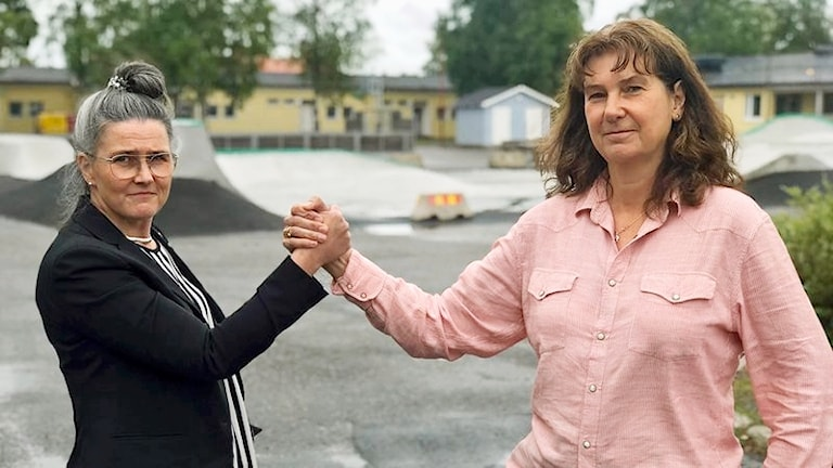 Christina Lidström (M), Kommunalråd, och Dagmar Schröder (S), oppositionsråd i Bjurholm
